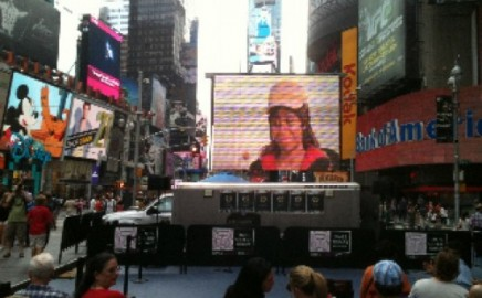 The Visitor in NYC Times Square!