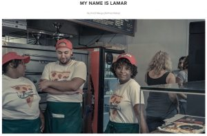 My Name is Lamar - with clan in pizzeria