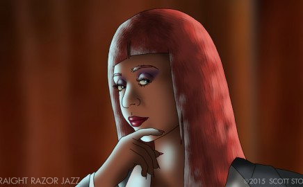 Sophia Thomas captured in animated form for feature film sizzle reel of STRAIGHT RAZOR JAZZ